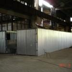 Блок контейнерных сушильных камер по сушке дров на объем загрузки 88 складометров.